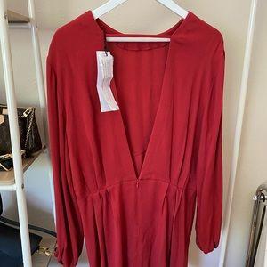 Iro red open-back dress